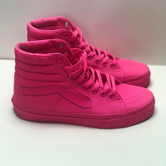 Vans Shoes | Vans Sk8hi Mono Neon Pink